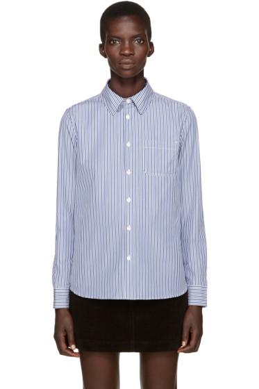 A.P.C. - Blue Striped Shirt