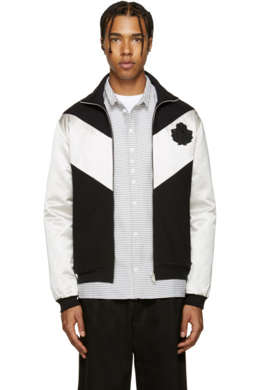 Alexander McQueen - Black & Ivory Logo Zip-Up Sweater