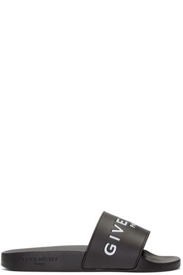 Givenchy - Black Logo Slides