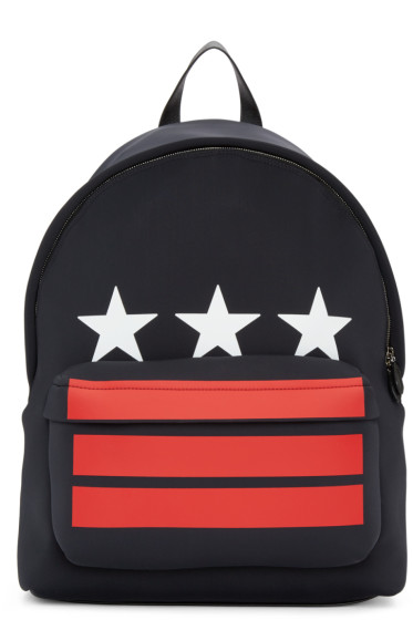 Givenchy - Black Stars & Stripes Backpack