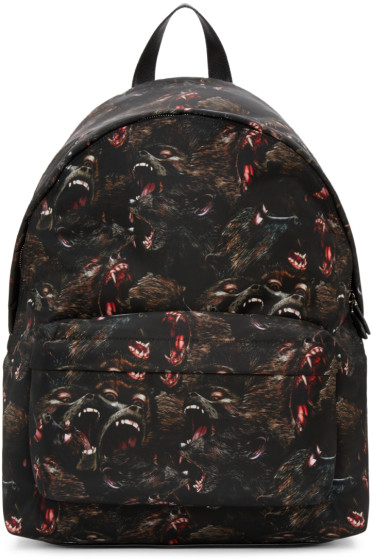 Givenchy - Black Nylon Monkey Backpack
