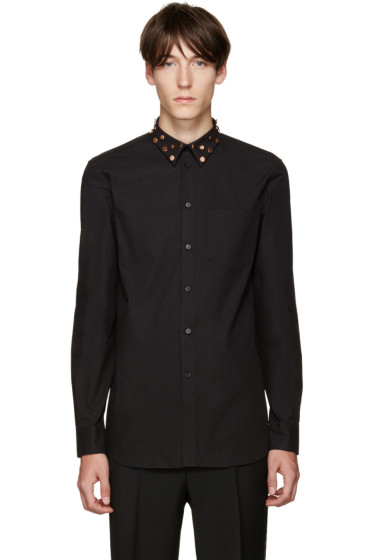Givenchy - Black Studded Collar Shirt
