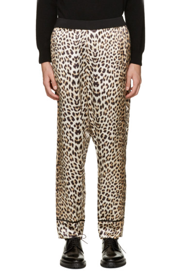 3.1 Phillip Lim - Beige Reversible Leopard Trousers