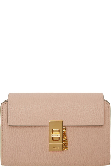 Chloé - Pink Compact Drew Wallet
