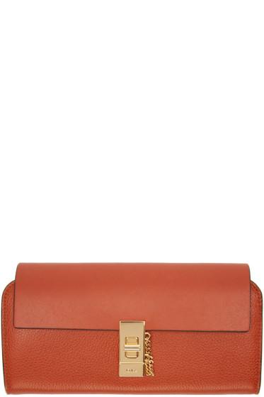 Chloé - Orange Long Drew Wallet
