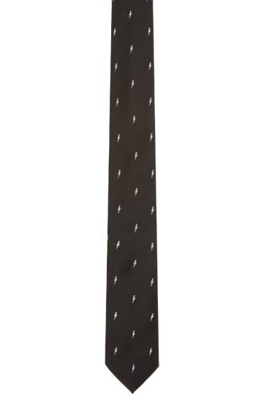 Neil Barrett - Black Thunderbolt Tie