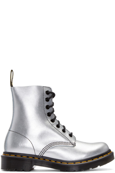 Dr. Martens - Silver Eight-Eye Pascal Boots