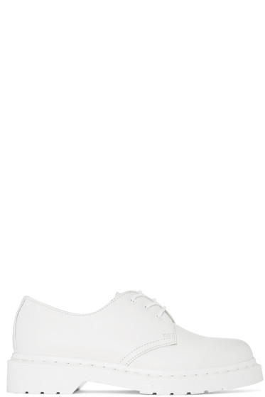 Dr. Martens - White 1461 Mono Derbys
