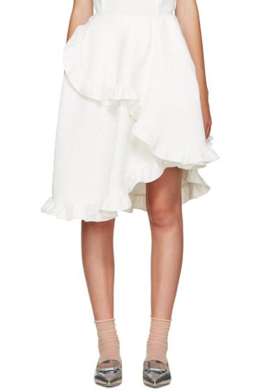 Simone Rocha - Ivory Wrap Skirt