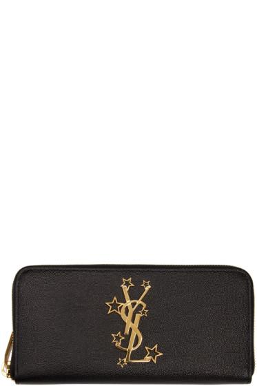 Saint Laurent - Black Star Monogram Wallet