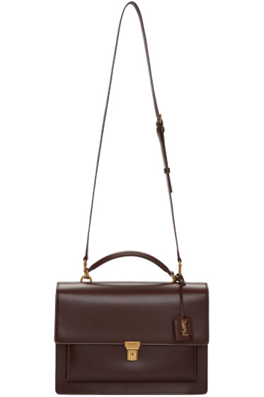 Saint Laurent - Burgundy Large High School Satchel