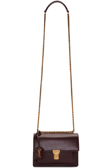 Saint Laurent - Burgundy Small High School Satchel
