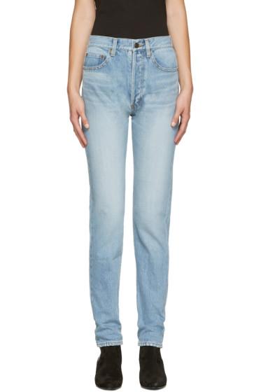 Saint Laurent - Blue 80's Carrot Fit Jeans