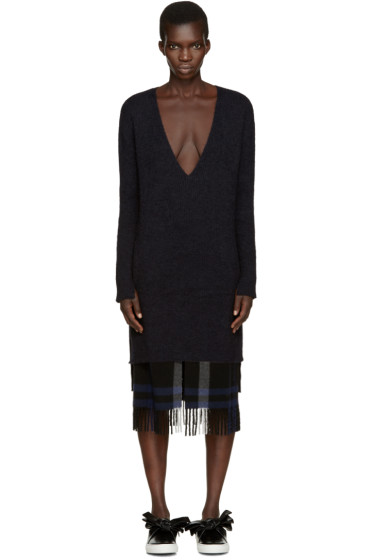 Cédric Charlier - Black Mohair Dress