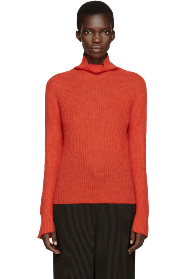 Cédric Charlier - Red Mohair Turtleneck