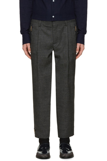 Kolor - Grey Wool Zip Trousers