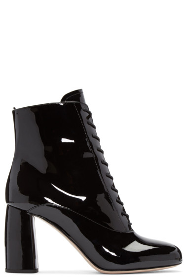 Miu Miu - Black Patent Ankle Boots