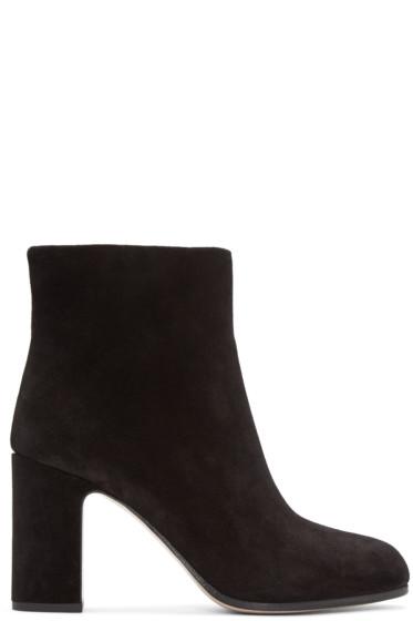 Miu Miu - Black Suede Ankle Boots