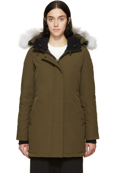 Canada Goose expedition parka sale 2016 - Canada Goose: Military Green Branta Collection Aberdeen Bomber ...