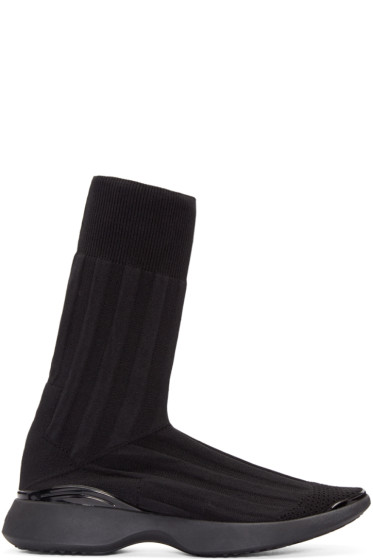 Acne Studios - Black Knit Batilda High-Top Sneakers