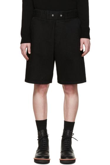 Givenchy - Black Distressed Denim Shorts