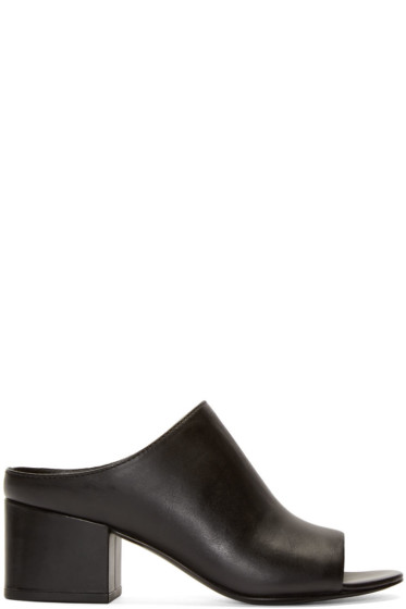 3.1 Phillip Lim - Black Leather Cube Mules