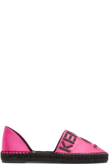 Kenzo - Pink Logo Cut Out Espadrilles