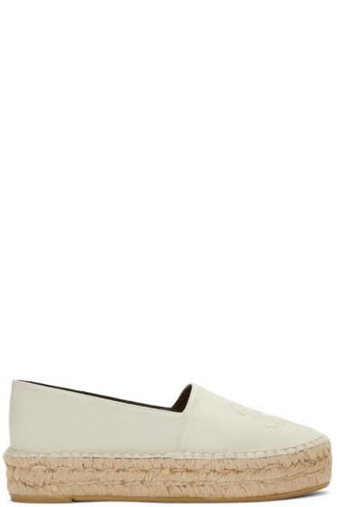 Kenzo - White Leather Tiger Espadrilles