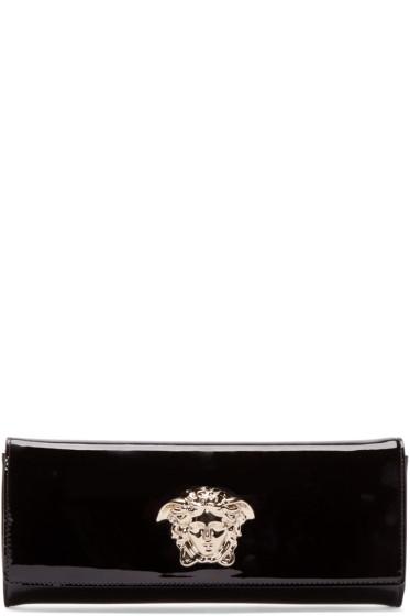 Versace - Black Patent Medusa Clutch