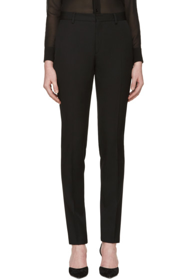 Saint Laurent - Black Classic Wool Trousers
