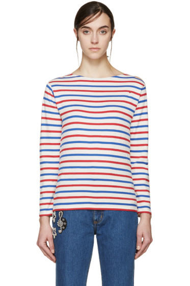 Saint Laurent - Tricolor Distressed T-Shirt