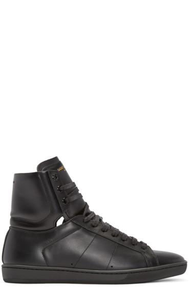 Saint Laurent - Black SL/01 Court Classic High-Top Sneakers