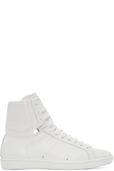 Saint Laurent - White SL/01 Court Classic High-Top Sneakers