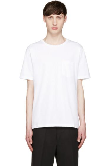 AMI Alexandre Mattiussi - White Pocket T-Shirt