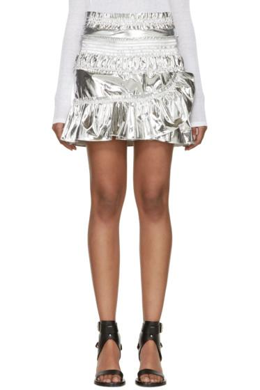 Isabel Marant - Silver Ruffled Jeanne Miniskirt