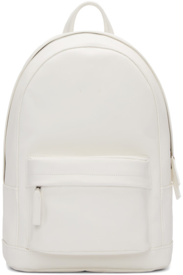 PB 0110 - White Leather CA 7 Backpack