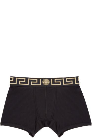 Versace Underwear - Black & Gold Medusa Boxer Briefs
