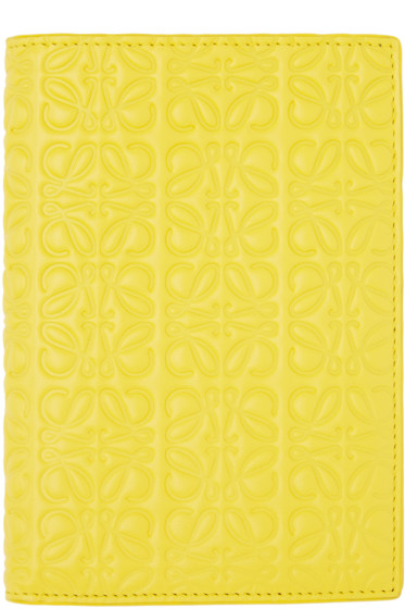 Loewe - Yellow Anagram Passport Holder