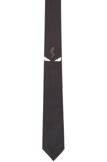 Fendi - Black Monster Eyes Tie