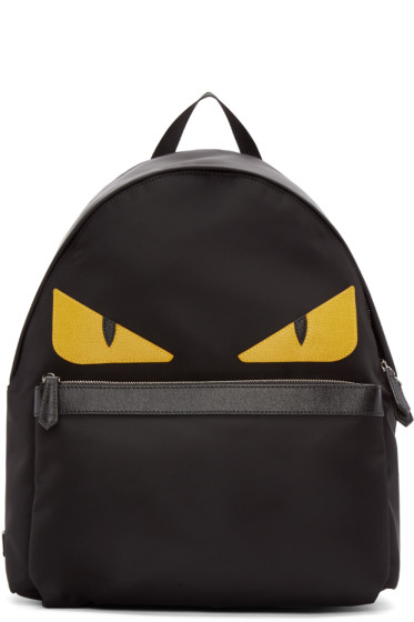 Fendi - Black Nylon Monster Backpack