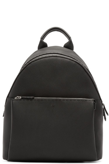 Fendi - Black Leather Backpack