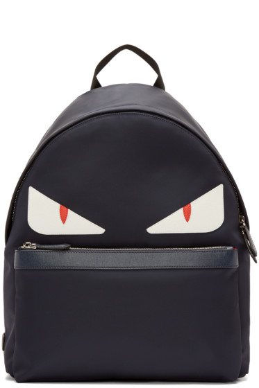 Fendi - Navy Nylon Monster Backpack