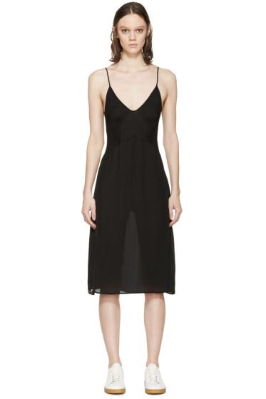 Araks - Black Silk Cadel Slip Dress