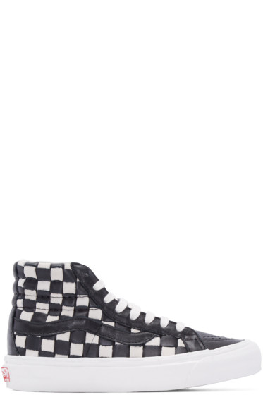 Vans - Black & White 50th OG SK8-Hi LX Sneakers
