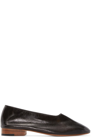 Martiniano - Black Leather Glove Flats