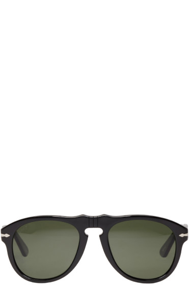 Persol - Black Acetate Round Sunglasses