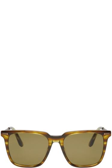 Bottega Veneta - Green Acetate Square Sunglasses