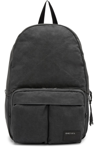 Diesel - Grey Denim D-Keep Backpack
