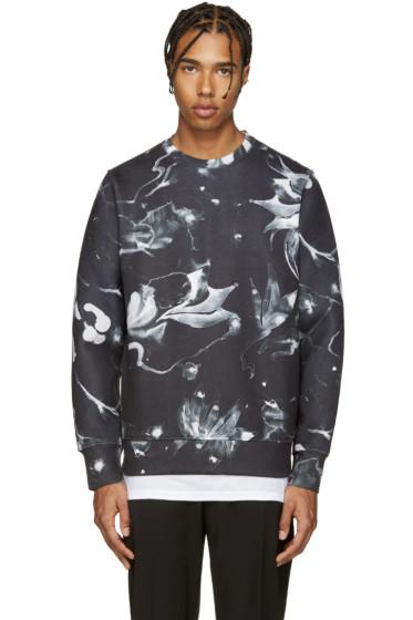 Diesel - Black S-Joe Floral Print Pullover