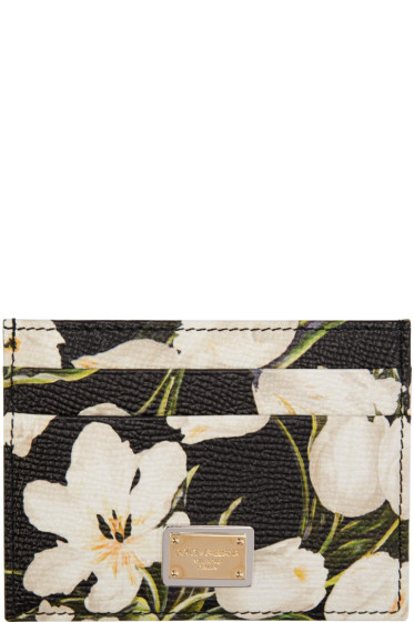 Dolce & Gabbana - Black Tulip Card Holder